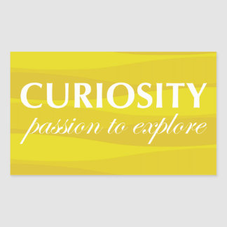 Yellow for Curiosity Sticker