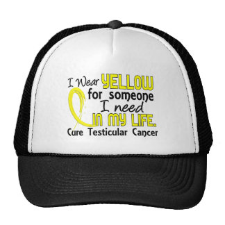 Yellow For Someone I Need Testicular Cancer Hats
