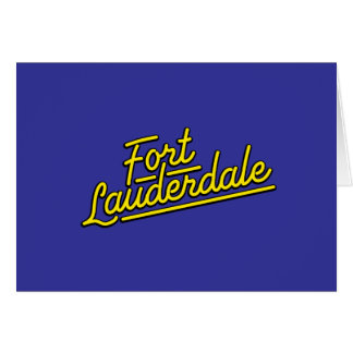 yellow Fort Lauderdale Card