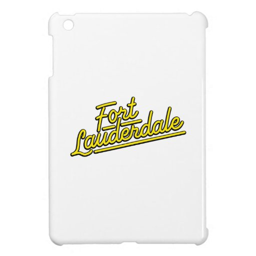 yellow Fort Lauderdale iPad Mini Cases