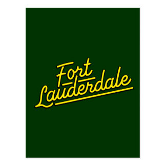 yellow Fort Lauderdale Postcards