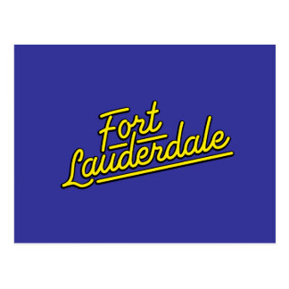 yellow Fort Lauderdale Postcard
