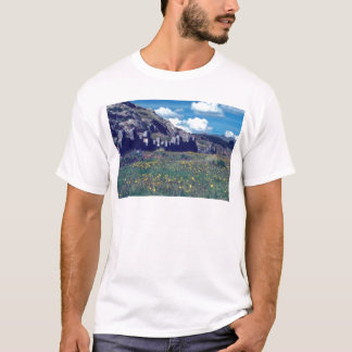 yellow Fortress of Sacsayhuaman flowers T-Shirt