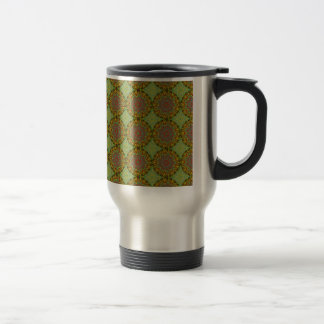 Yellow Fractal Pattern Travel Mug