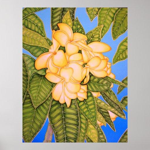 Yellow Frangipani Print