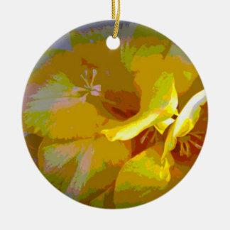 Yellow Freesia Digital Manipulation Ornament