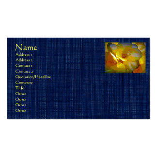 Yellow Freesia Digital Manipulation Pack Of Standard Business Cards