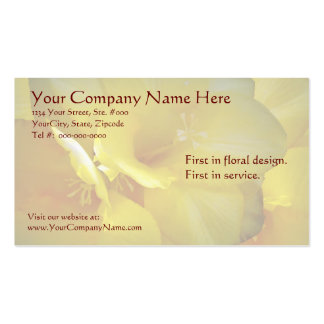 Yellow Freesia Flowers Business Cards