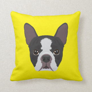 Yellow French Bulldog Cushion