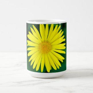 Yellow Fresh Sunflower Nature Bright Basic White Mug