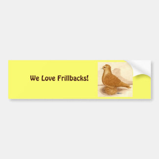 Yellow Frillback Pigeon Bumper Sticker
