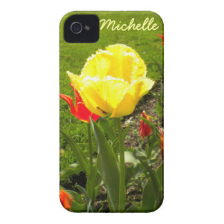 Yellow Fringed Tulip iPhone 4 Case