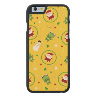 Yellow frogs santa claus snowmen carved® maple iPhone 6 slim case