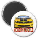 YELLOW_FRONT_CAMARO.png 6 Cm Round Magnet
