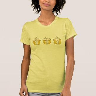 Yellow Frosted Lemon Cupcake Cupcakes Cake Tee