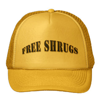 Yellow Funny Free shrugs Hat