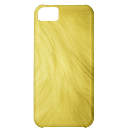 Yellow fur feathery image, iPhone 5 case