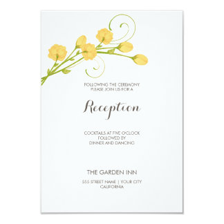 Yellow Garden Roses - Reception Card