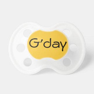 Yellow G'day Australian Hello Baby Dummy Binkie