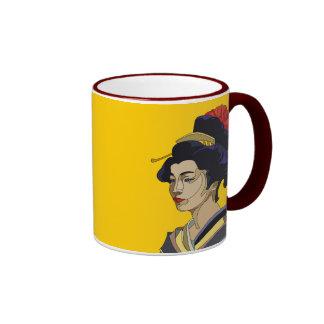 Yellow Geisha Mugs