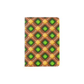 Yellow Gem Pattern Passport Holder