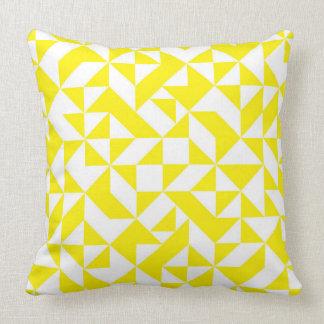 Yellow Geometric Pattern Pillow