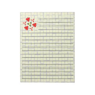 Yellow geometric pattern notepad