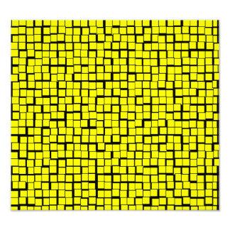 Yellow Geometric Pattern Photo