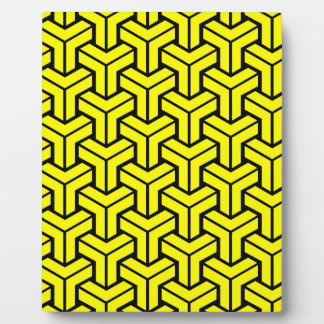 Yellow Geometric Pattern Plaque
