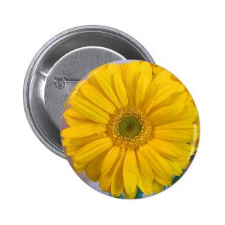 Yellow Gerbera Daisy 6 Cm Round Badge