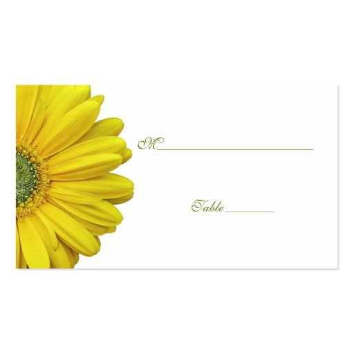 Yellow Gerbera Daisy Special Occasion Place Card Business Cards