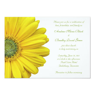 Yellow Gerbera Daisy Wedding Invitation
