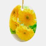 yellow Gerbera flowers オーナメント