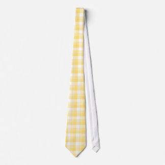 Yellow Gingham Check Pattern. Tie