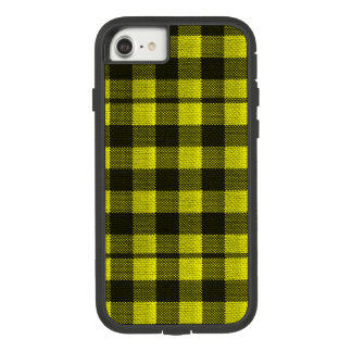 Yellow Gingham Checkered Pattern Burlap Look Case-Mate Tough Extreme iPhone 8/7 Case