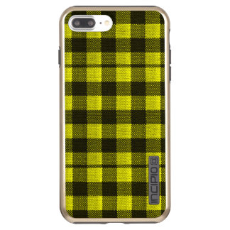 Yellow Gingham Checkered Pattern Burlap Look Incipio DualPro Shine iPhone 8 Plus/7 Plus Case