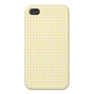 Yellow Gingham iPhone Case iPhone 4 Covers