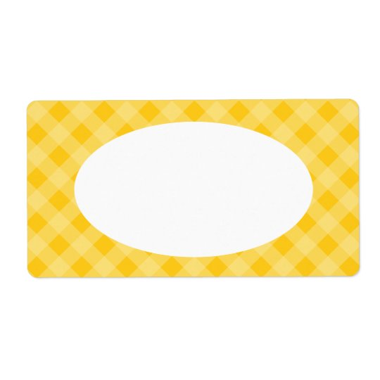 Yellow Gingham Labels