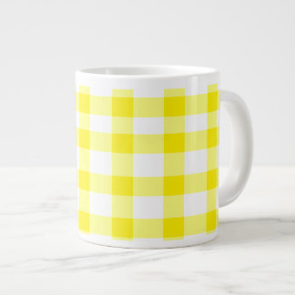 Yellow Gingham Large Coffee Mug