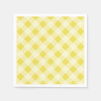 Yellow Gingham Napkins Disposable Napkin