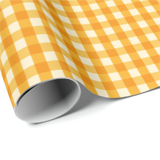 Yellow Gingham Wrapping Paper