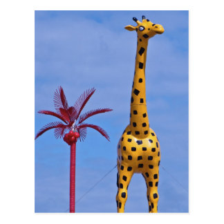 Yellow Giraffe at the Palacio de la Flea Postcard