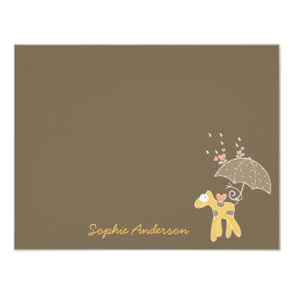 Yellow Giraffe Baby Boy Girl Shower Thank You Card 11 Cm X 14 Cm Invitation Card