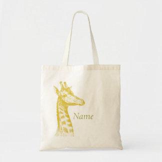 Yellow Giraffe Budget Tote Bag