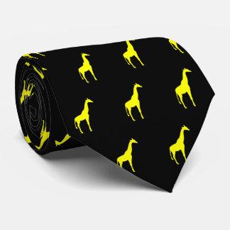 Yellow Giraffe on Black Tie