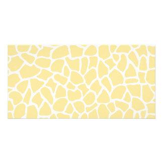 Yellow Giraffe Pattern Animal Print Design Picture Card