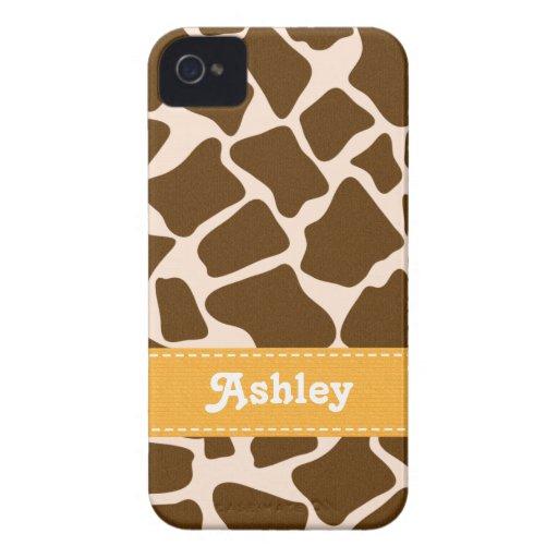 Yellow Giraffe Print Blackberry Bold Case