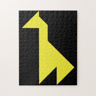 Yellow giraffe Tangram Jigsaw Puzzle