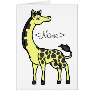 Yellow Giraffe with Black Spots Greeting Card