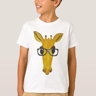 Yellow Giraffe with Glasses T-Shirt